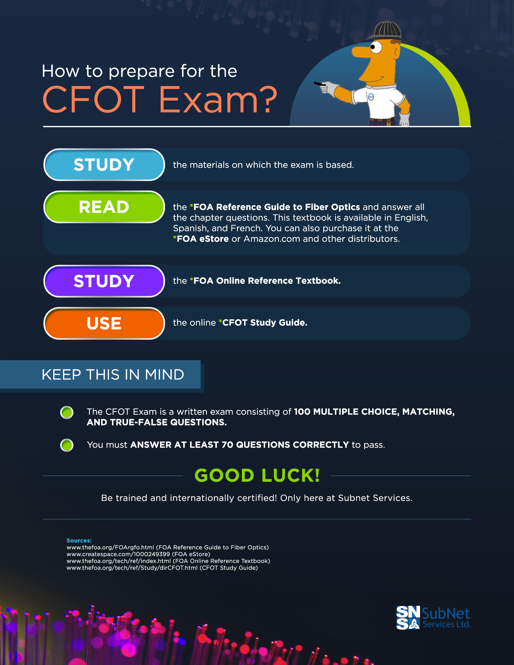 fiber op tips how to prepare for the cfot and cpct exams rh blog subnetservices com Military Technical Aptitude Test Test Technician Salary