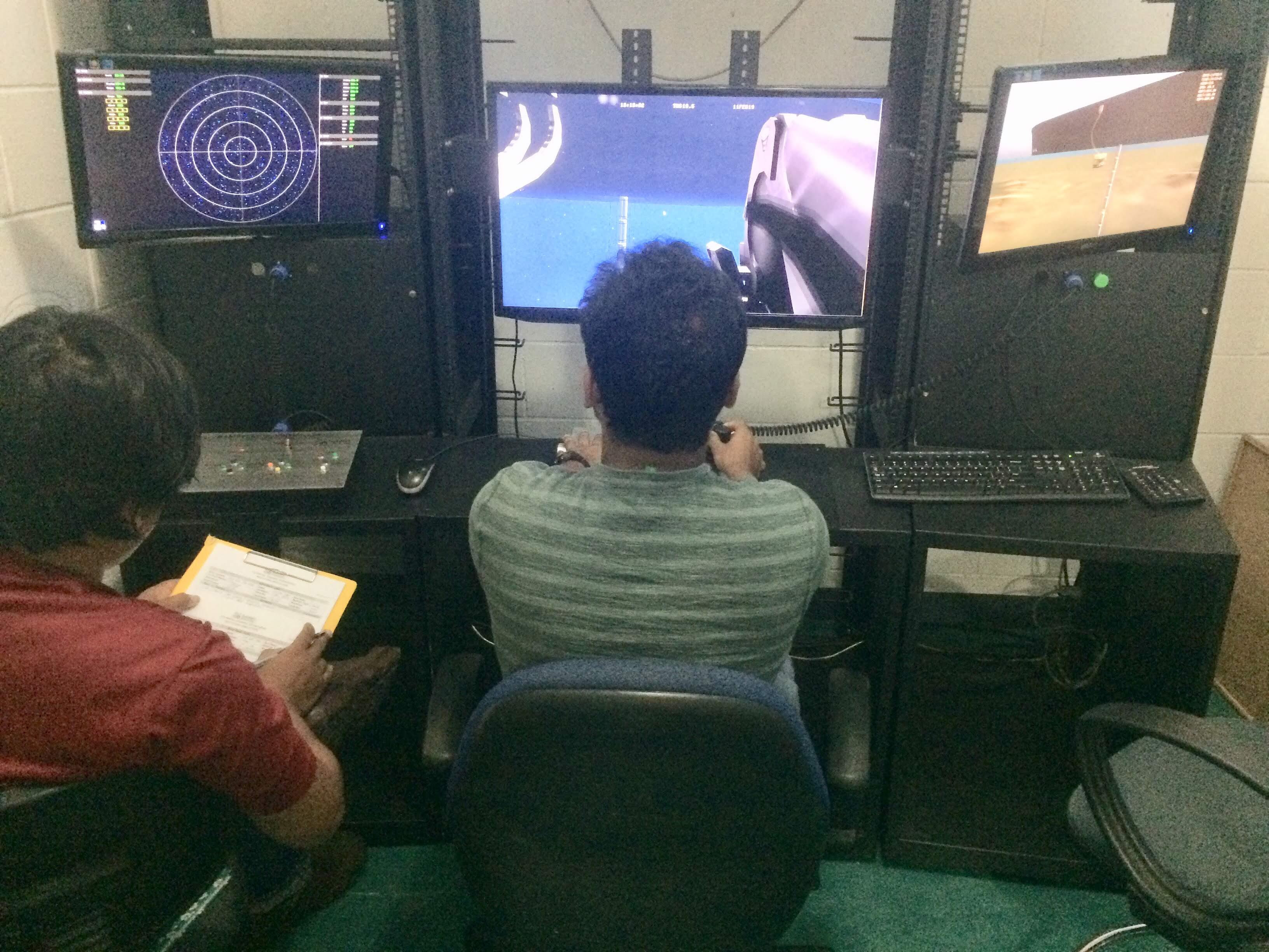 ROV students during their practical session